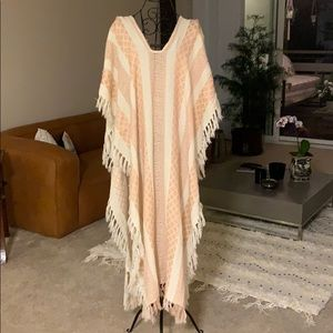 Free people poncho, swimsuit coverup, scarf